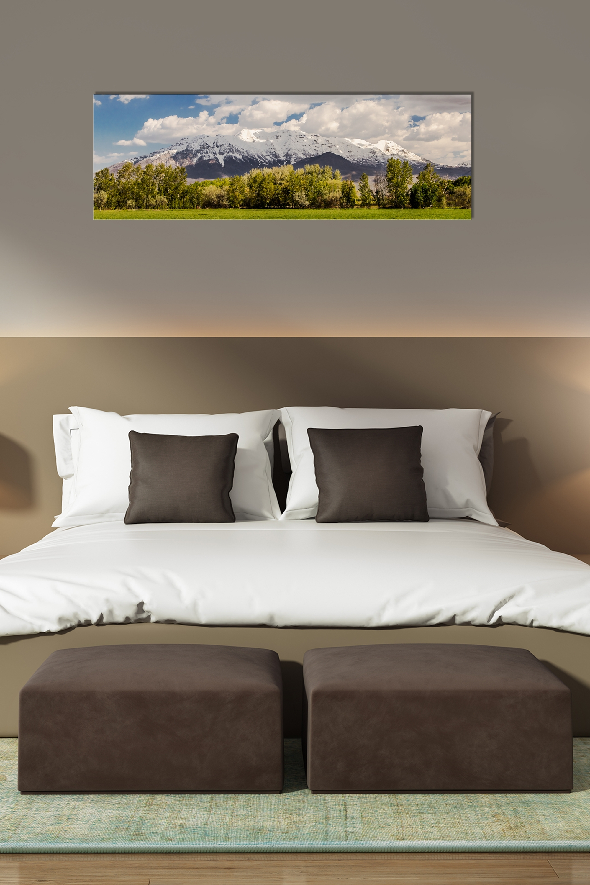 Popular Panoramic Wall Art With Timpanogos Spring Panorama – Rogue Aurora Photography (View 13 of 15)