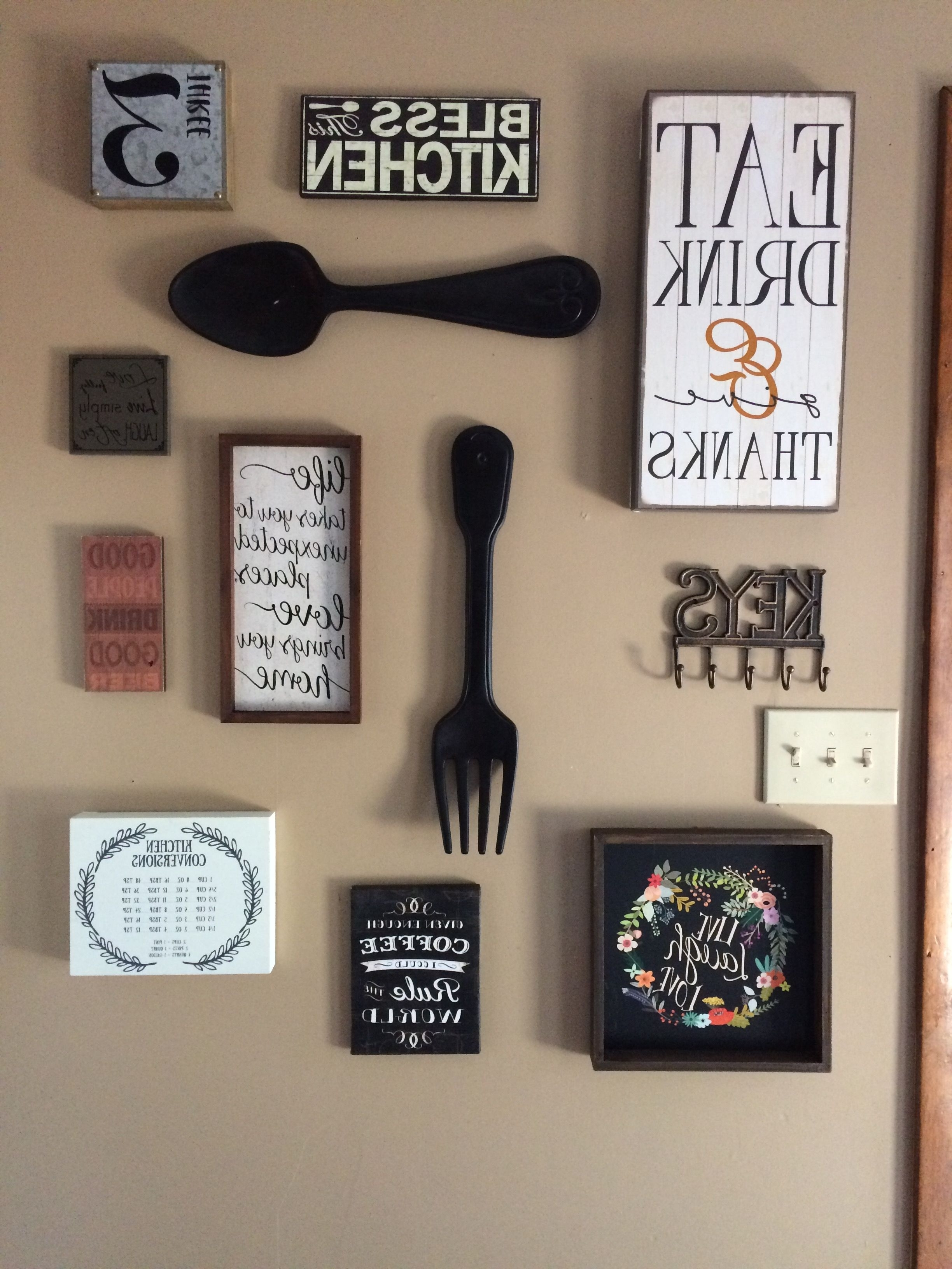 Popular Ross Wall Art Inside My Kitchen Gallery Wall All Decor From Hobby Lobby And Ross Design (Gallery 12 of 20)