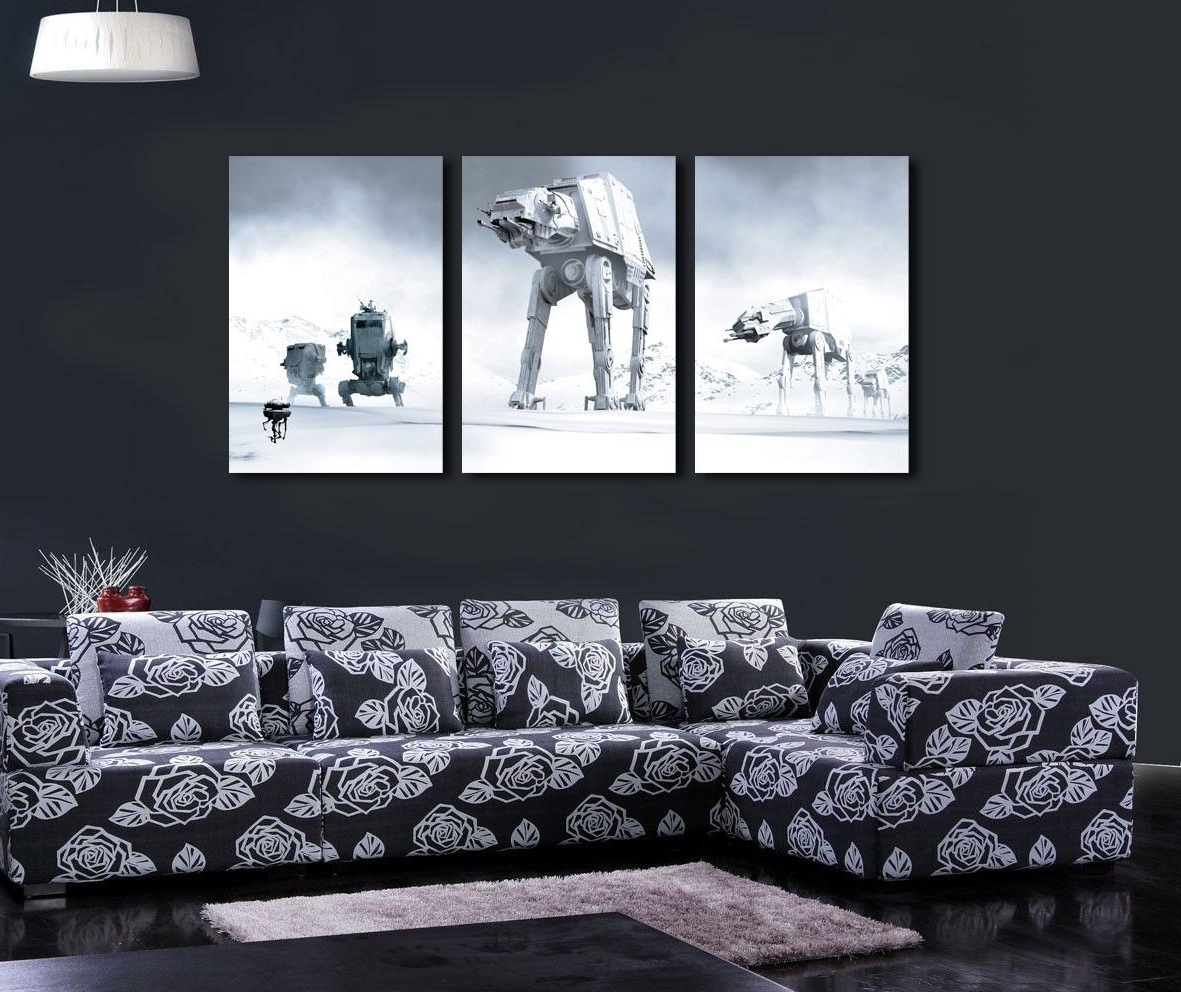 Popular Star Wars Canvas Wall Art – Arsmart Within Star Wars Wall Art (View 12 of 15)