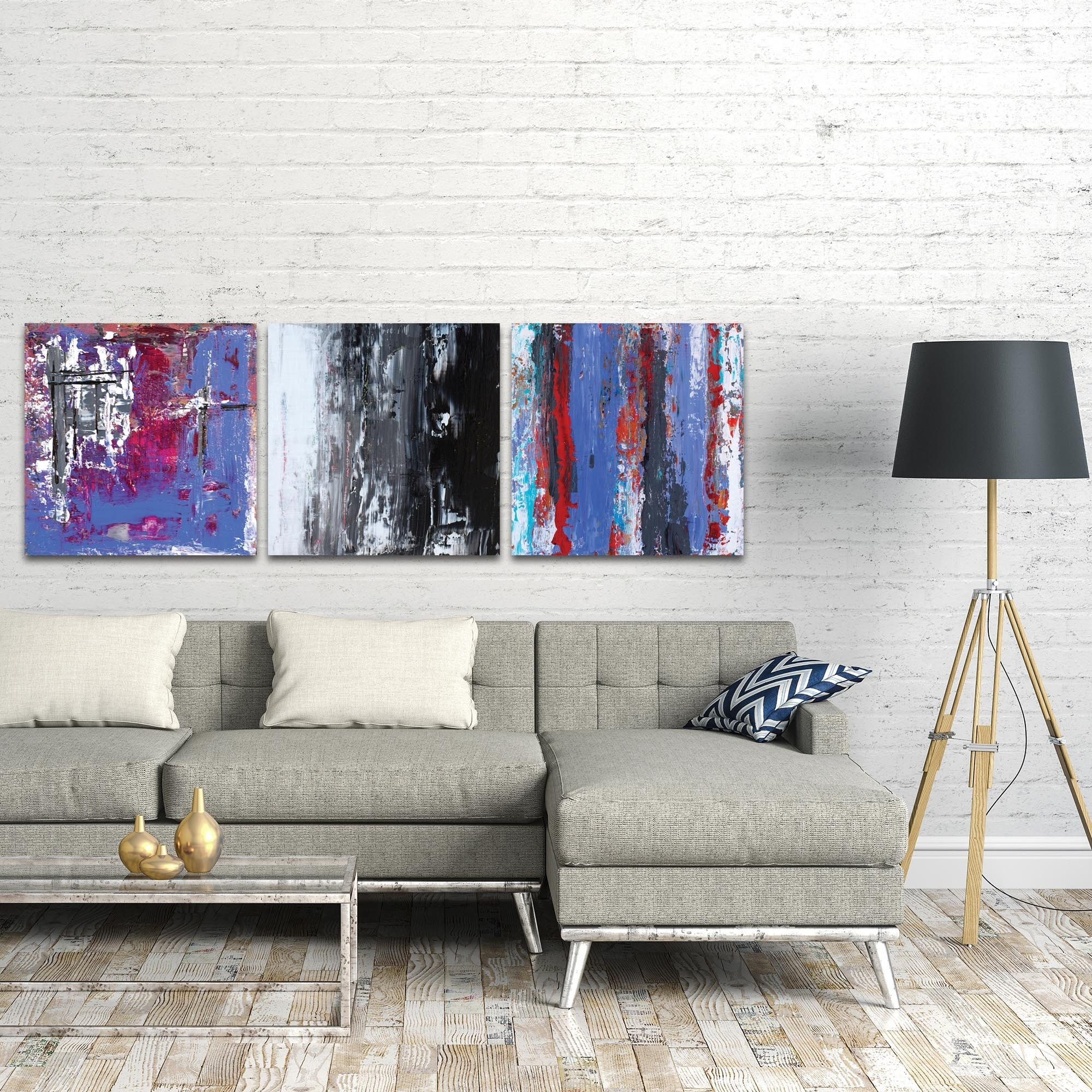 Popular Triptych Wall Art Regarding Metal Art Studio – Urban Triptych 4 Largeceleste Reiter (View 20 of 20)