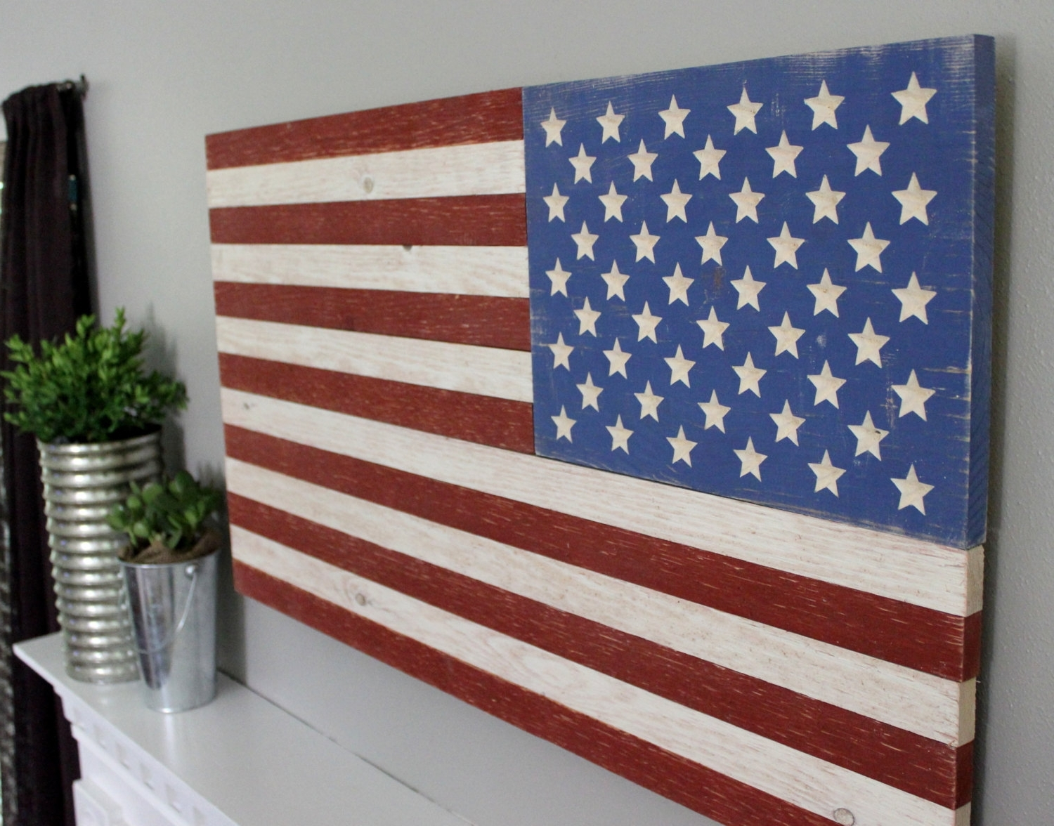 Popular Wooden American Flag Wall Art Throughout Rustic Wooden American Flag Superb American Flag Wall Art – Prix (View 16 of 20)