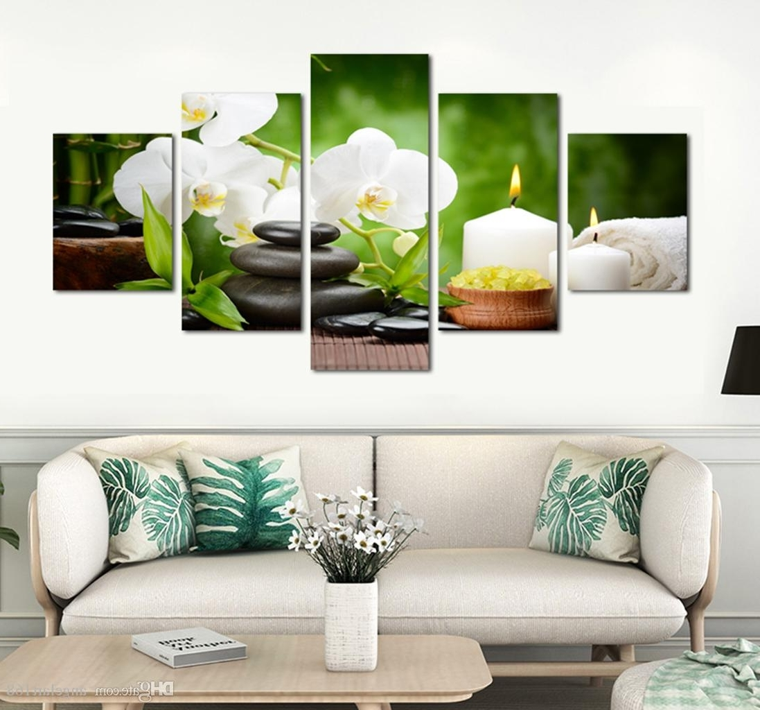 Preferred 2018 Unframed Stone Bamboo Spa Wall Art Oil Painting On Canvas Inside Bamboo Wall Art (View 18 of 20)
