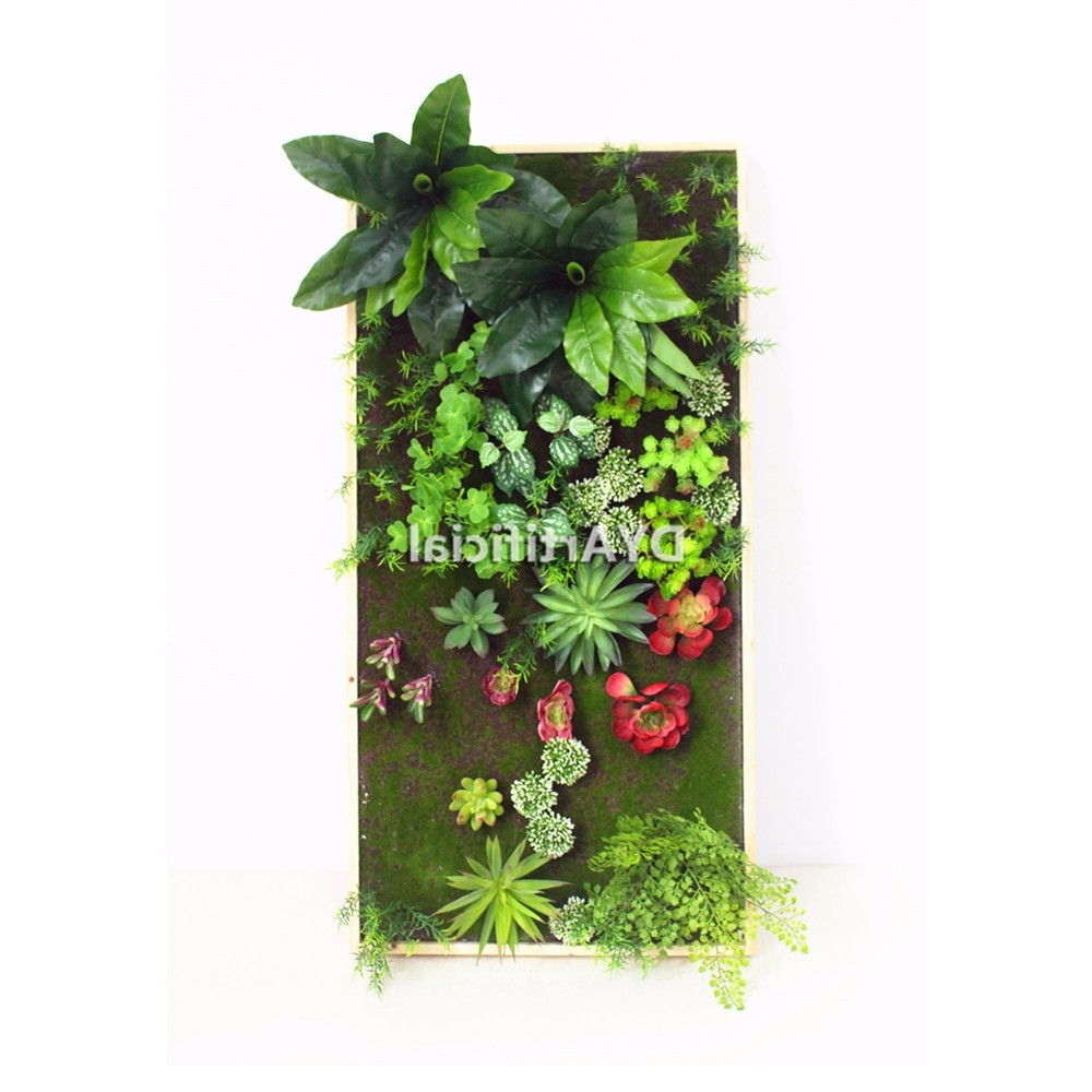 Preferred 30X120Cm Artificial Living Wall Art Artificial Vertical Succulent Intended For Succulent Wall Art (View 15 of 20)
