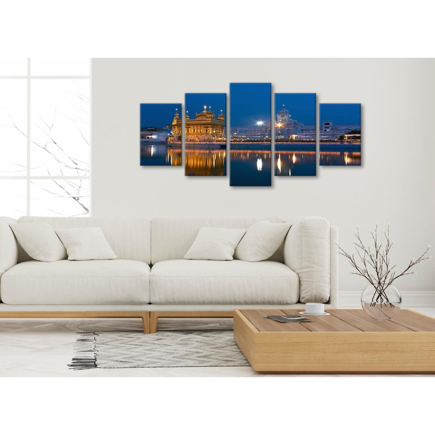 Preferred 5 Panel Canvas Wall Art Pictures – Sikh Golden Temple Amritsar Throughout 5 Piece Wall Art (View 15 of 20)