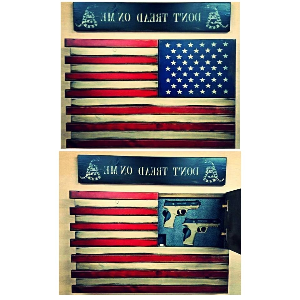 Preferred American Flag Home Defense Concealment Wall Art Throughout American Flag Wall Art (Gallery 10 of 15)