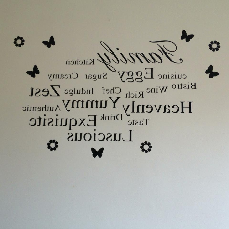 Preferred Family & Words Kitchen Wall Art Throughout Word Wall Art (Gallery 9 of 20)
