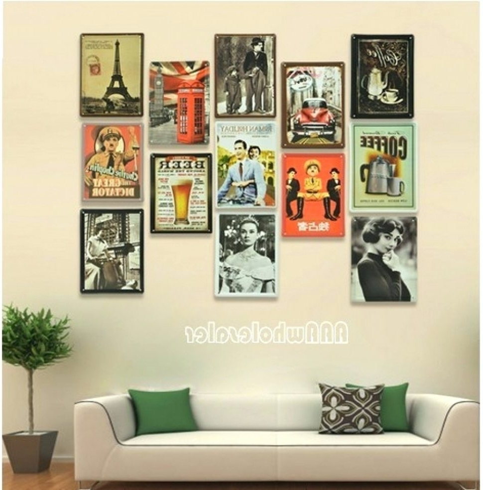 Preferred Fascinating Interesting Retro Wall Decor Ideas Kitchen Art Diner Regarding Vintage Wall Art (View 7 of 15)