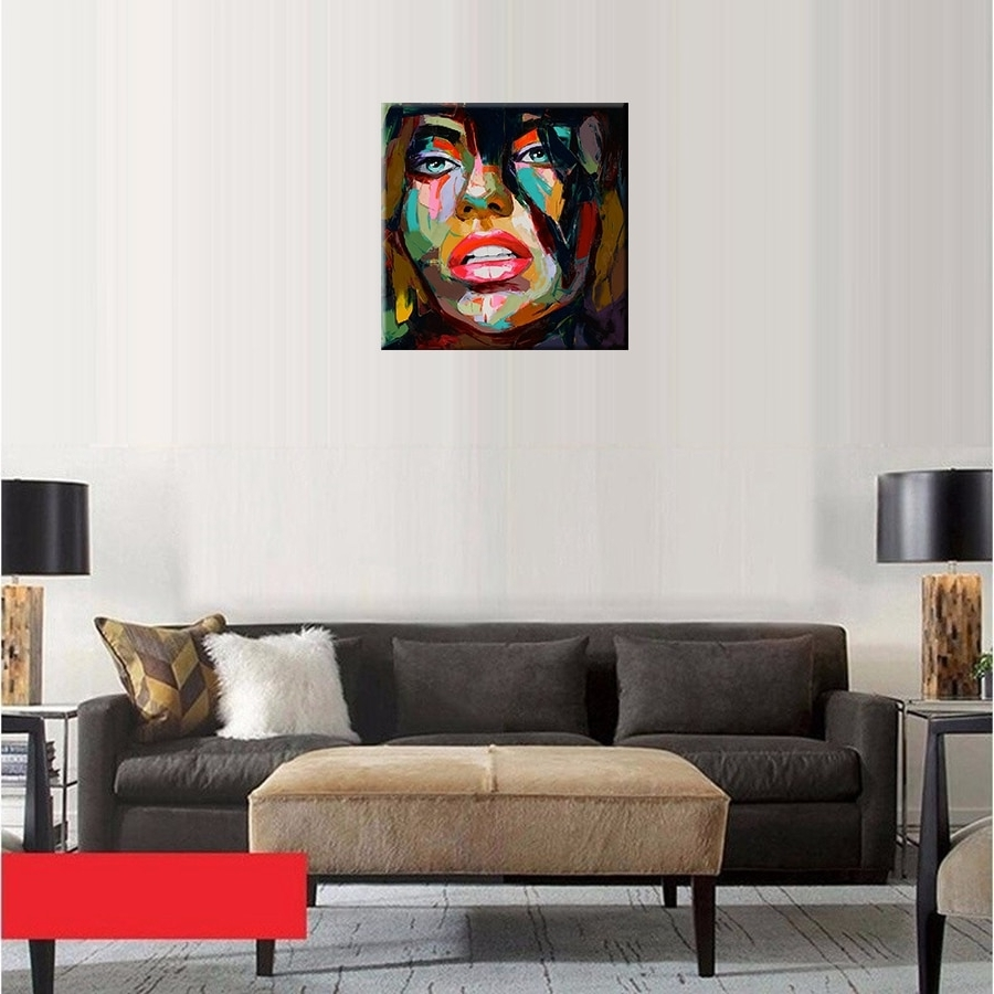 Preferred Home Goods Wall Art Within Francoise Nielly Oil Painting Handmade Abstract Portrait Palette (View 16 of 20)