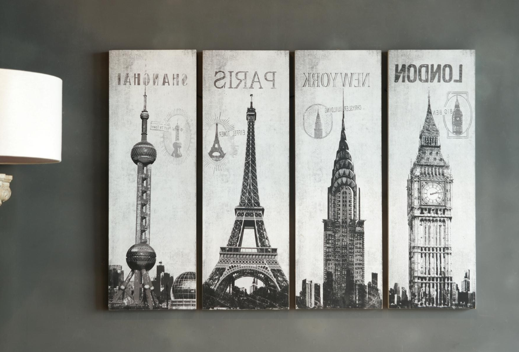 Preferred Inspiring Set Of 4 Pieces Large Wall Art Hang On Grey Wall Painted Pertaining To Grey Wall Art (View 17 of 20)