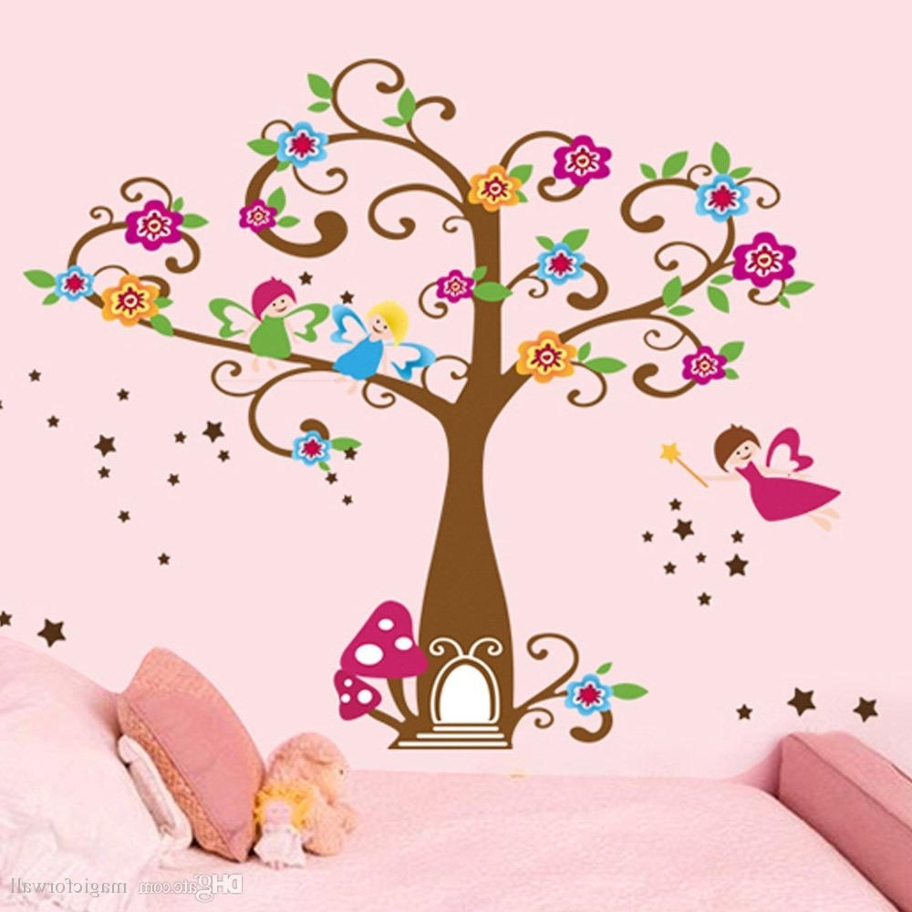 Preferred Kids Wall Art Throughout Little Elf Magic Tree House Wall Decal Stickers Decor For Kids Room (View 11 of 15)