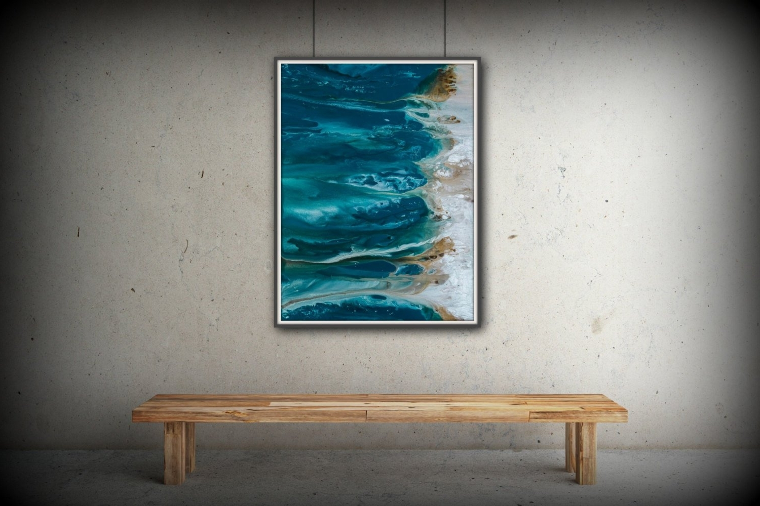 Preferred Large Coastal Wall Art With Abstract Art Blue Wall Art Coastal Landscape Giclee Large Print On (View 15 of 20)