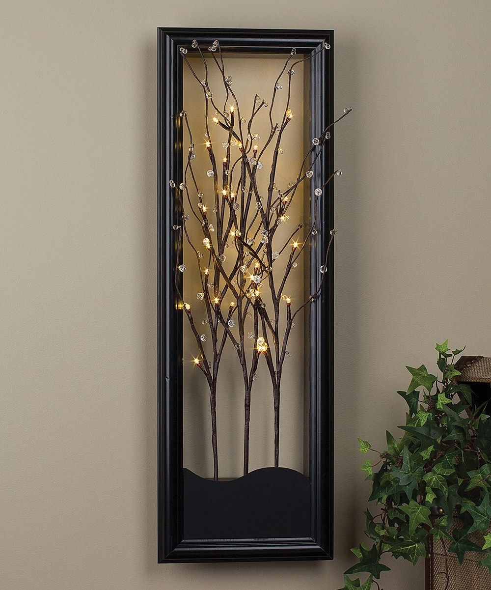 Preferred Light Up Willow Branch Wall Artthe Gerson Company #zulily With Light Up Wall Art (View 15 of 20)