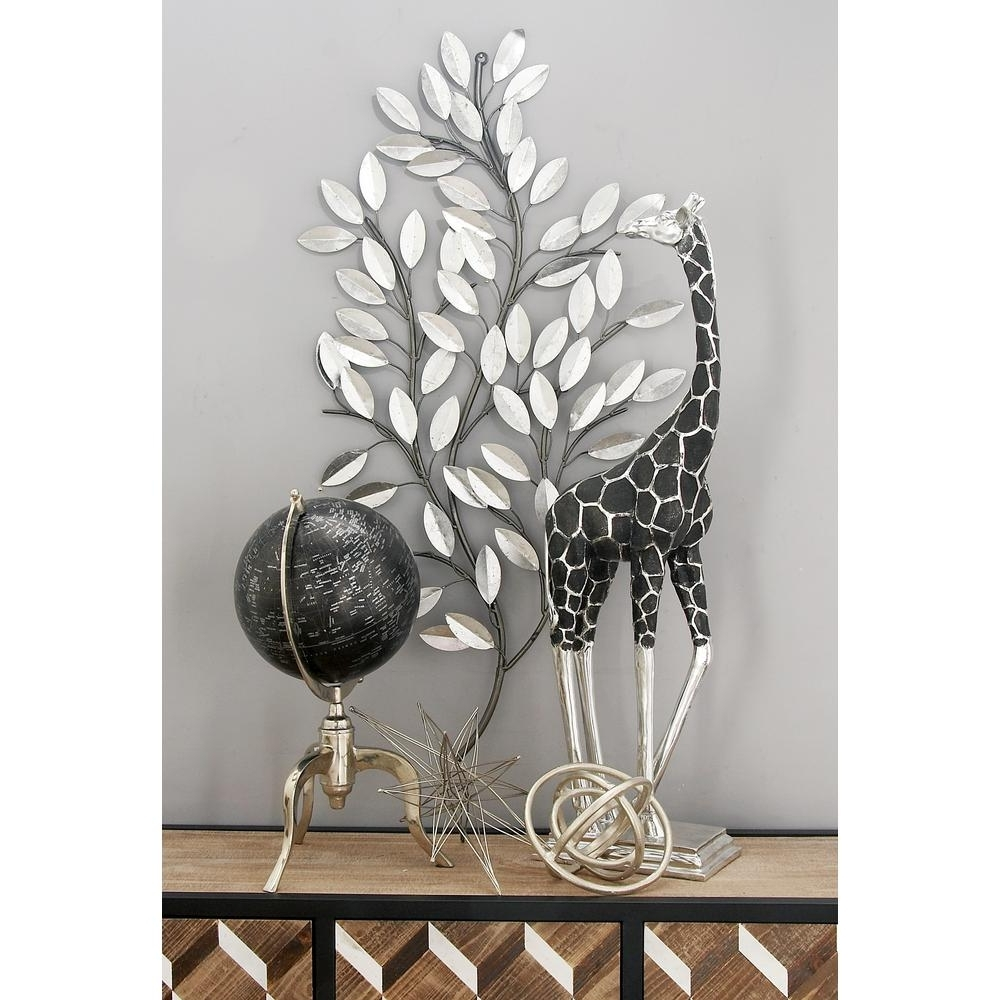 Preferred Litton Lane Natural Iron Silver Leaves And Stems Wall Decor 56848 Pertaining To Iron Wall Art (View 15 of 20)