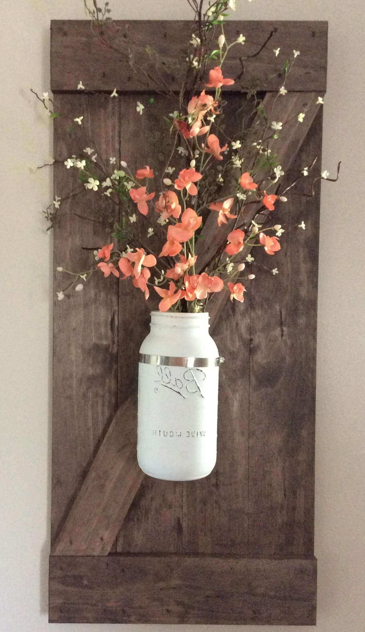 Preferred Mason Jar Wall Art New 24 Best Mason Jar Wall Decor Ideas And Pertaining To Mason Jar Wall Art (View 14 of 20)