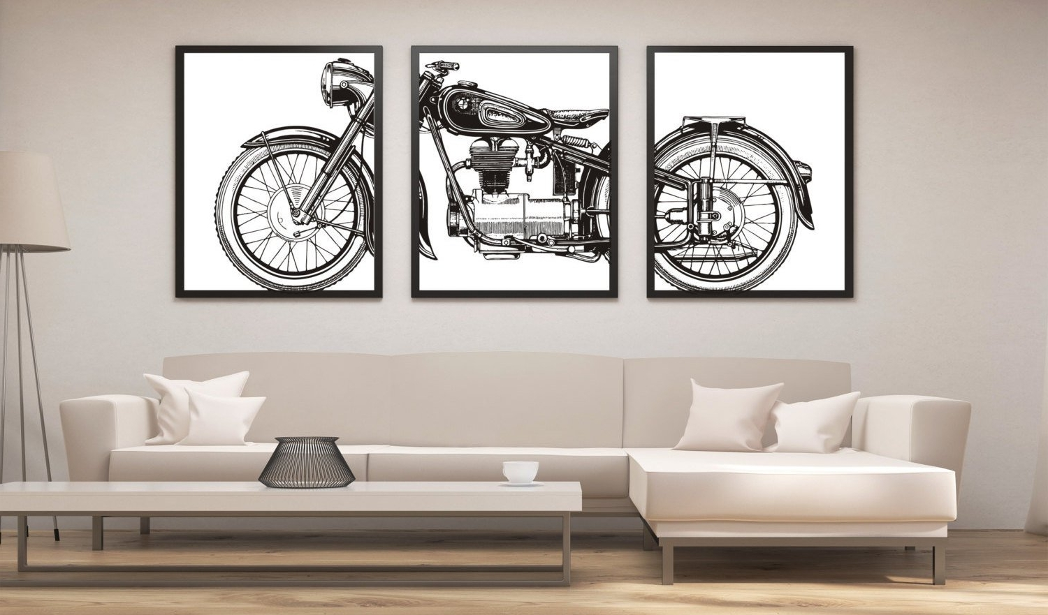 Preferred Motorcycle Print Set, Motorcycle Panel Art, Panel Wall Art With Motorcycle Wall Art (View 17 of 20)