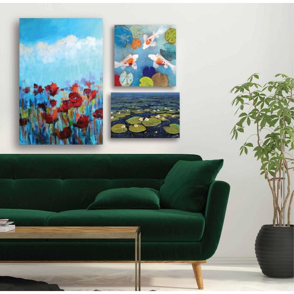 "Preferred Multi Piece Wall Art Inside Courtside Market ""water Lilies Gallery Wall Collection"" Printed Wall (Gallery 8 of 20)"