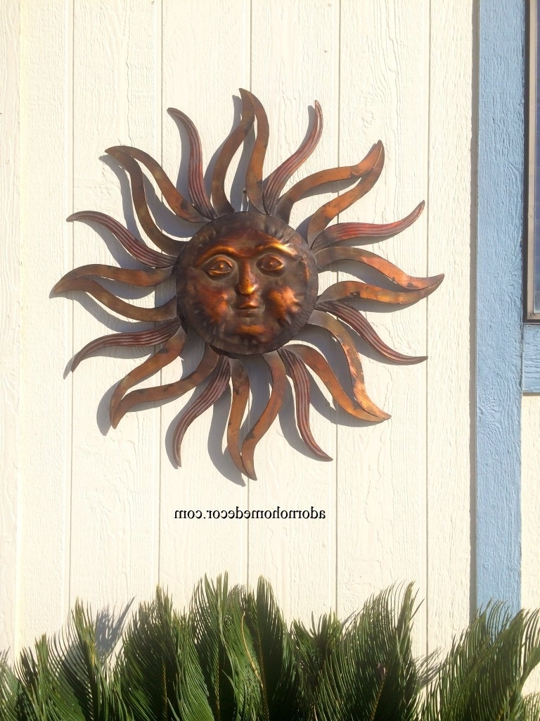 Preferred Outdoor Sun Wall Art In Metal Sun Wall Art Large Decor Rusticn Indoor Outdoor Patio Mexican (View 12 of 15)