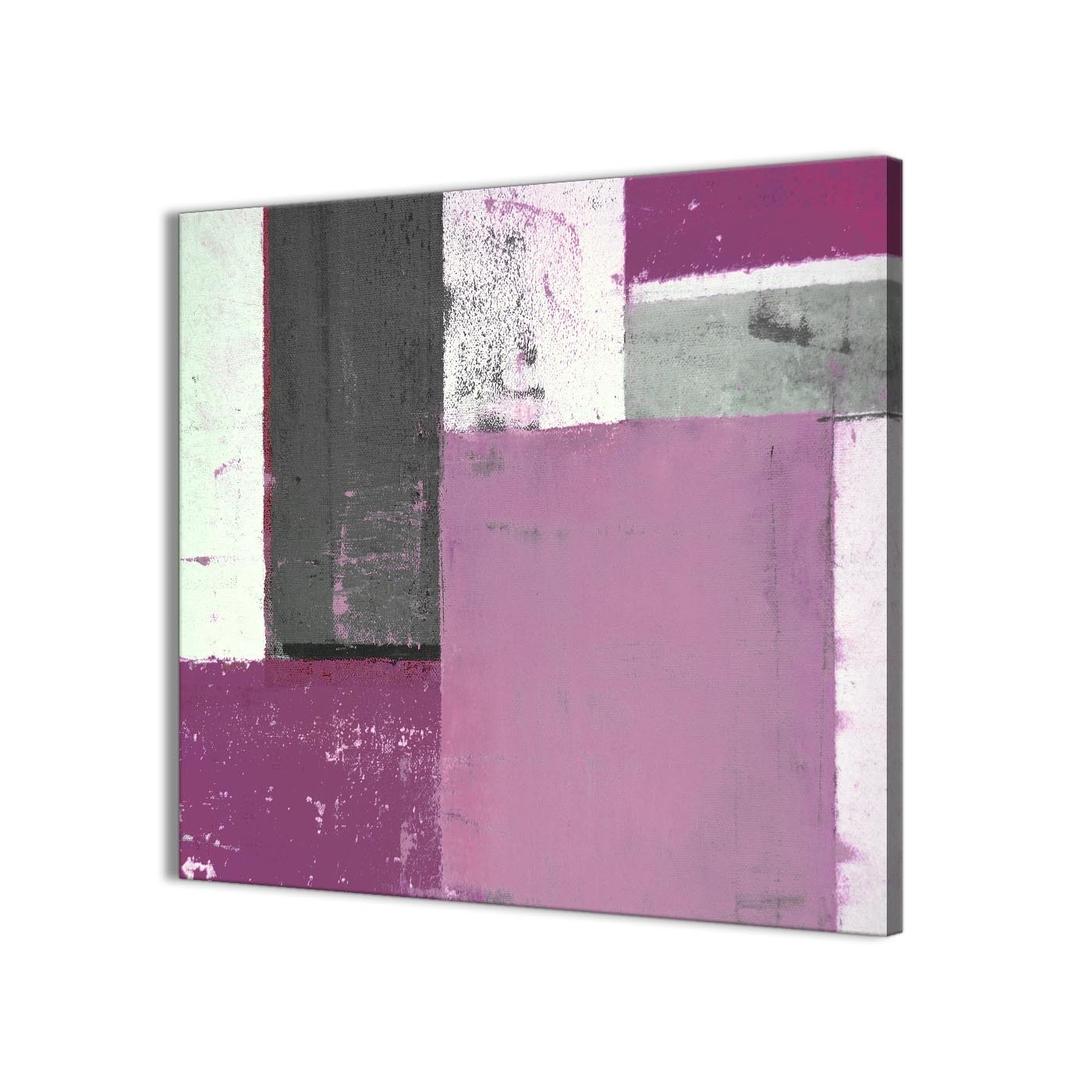 Preferred Purple And Grey Wall Art Intended For Purple Grey Abstract Painting Canvas Wall Art Picture – Modern 79Cm (View 12 of 20)