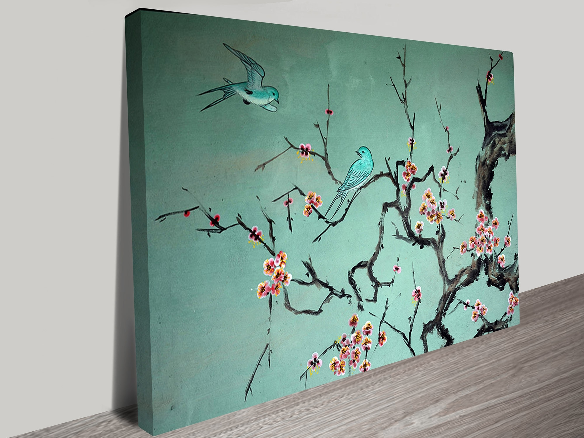Preferred Traditional Wall Art In Korean Traditional Art Of Birds And A Tree Branch (View 5 of 15)