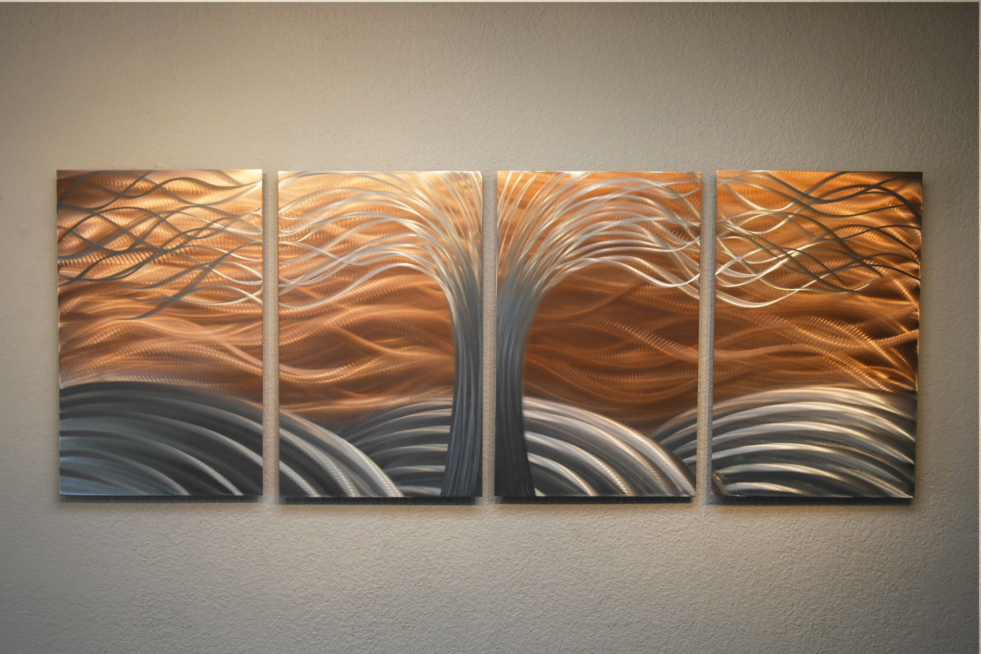 Preferred Tree Of Life Bright Copper – Metal Wall Art Abstract Sculpture Inside Copper Wall Art (View 14 of 15)