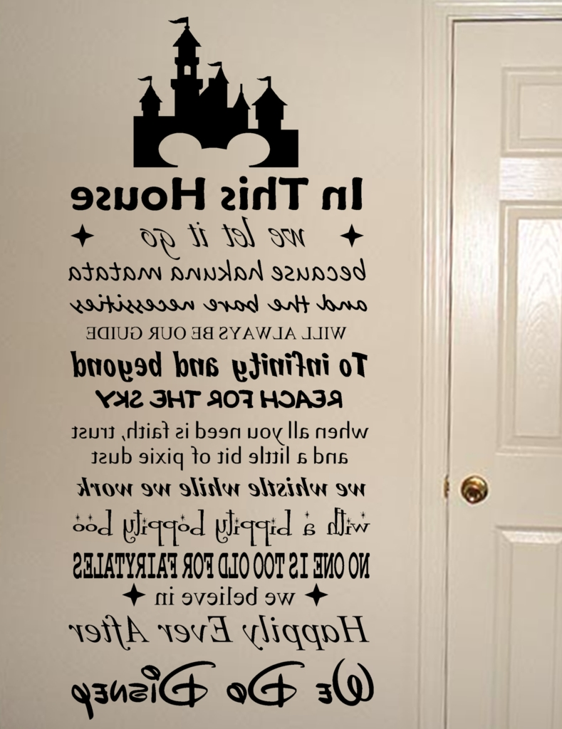 Preferred Wall Art Quotes Intended For We Do Disney Vinyl Wall Art Quote Decal Sticker Sign (View 12 of 20)