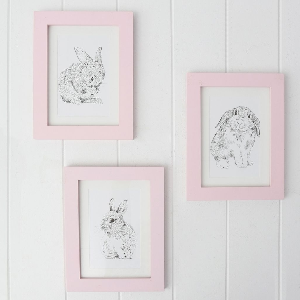 Pretty In Pastel In Bunny Wall Art (View 8 of 20)