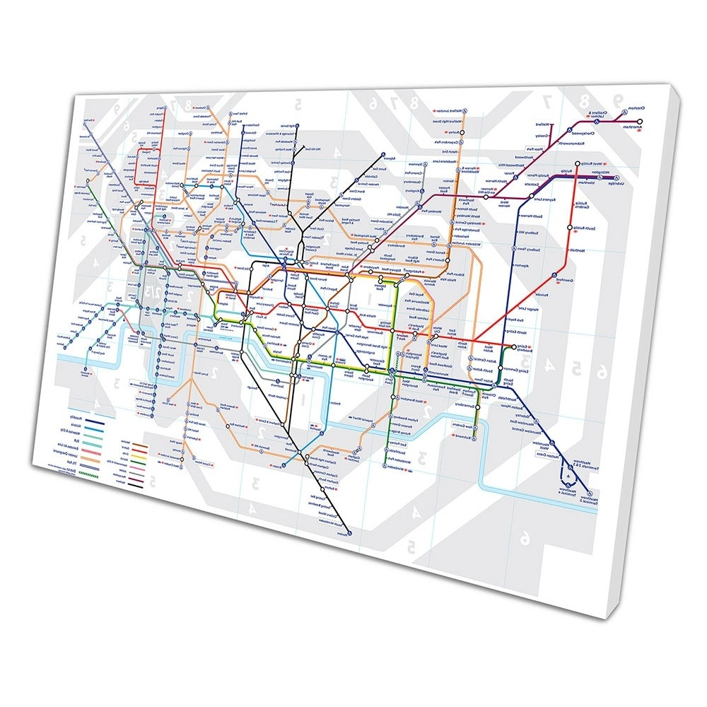 Print On Canvas Throughout Popular Tube Map Wall Art (View 10 of 20)