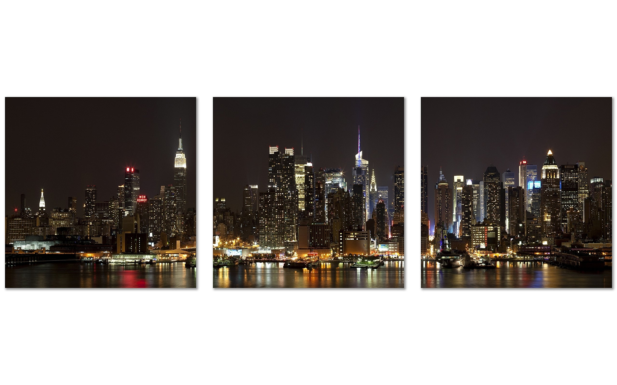 Qicai Nyc Canvas Art New York Picture Canvas Nyc Wall Art Manhattan Within Famous Nyc Wall Art (View 2 of 20)