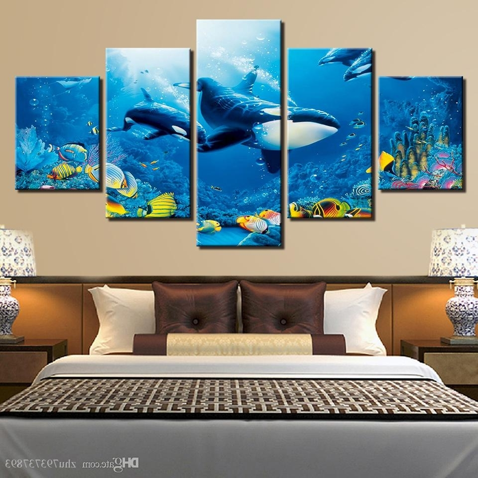 Recent 2018 Hd Prints Room Wall Art Framework Deep Blue Ocean Whale Within Whale Canvas Wall Art (View 10 of 20)