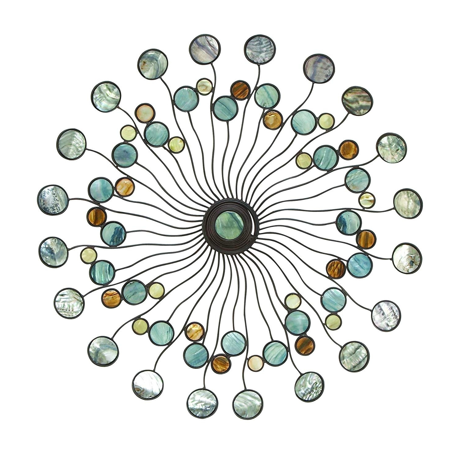 Recent Amazon: Deco 79 13533 Metal Wall Decor: Home & Kitchen For Circle Wall Art (Gallery 16 of 20)