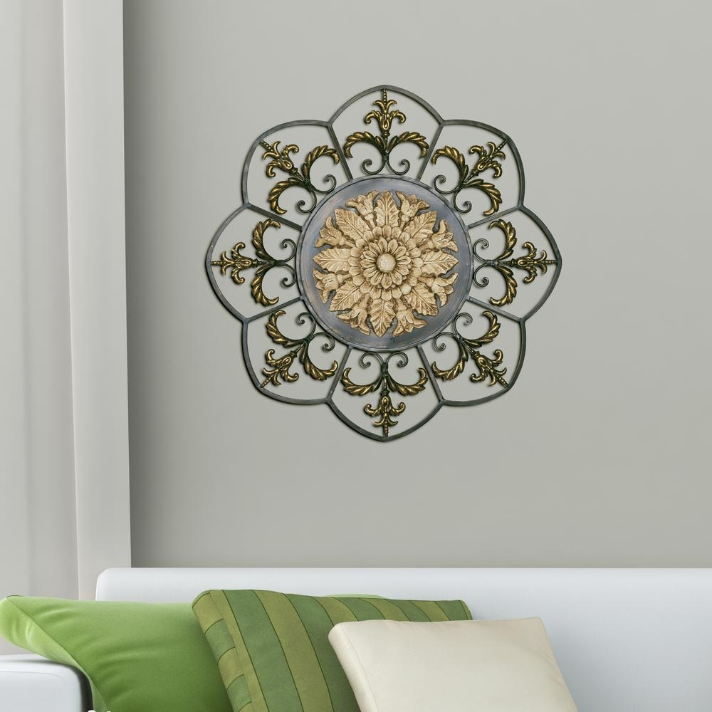 Recent Antique Gold Medallion Cute Medallion Wall Art – Prix Dalle Beton In Medallion Wall Art (View 16 of 20)