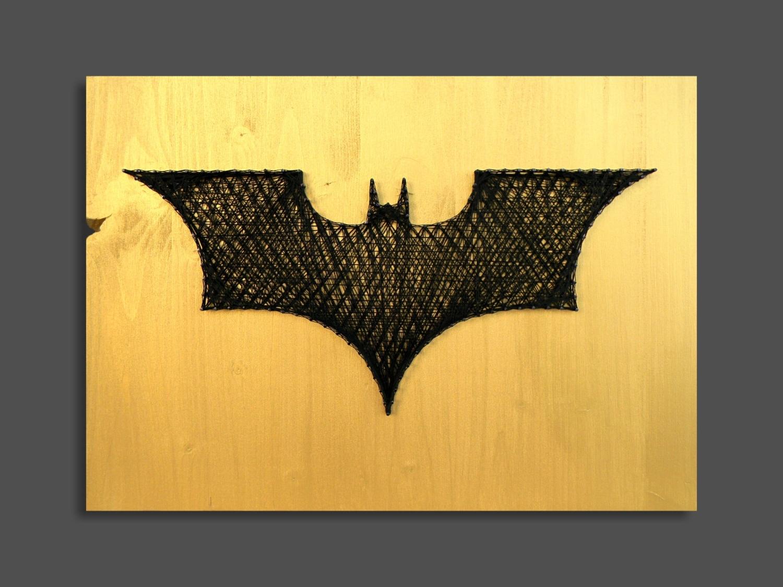 Recent Batman Wall Art Inside String Art Batman Wall Art Wall Decor Batman Decor Logo Batman (View 8 of 20)