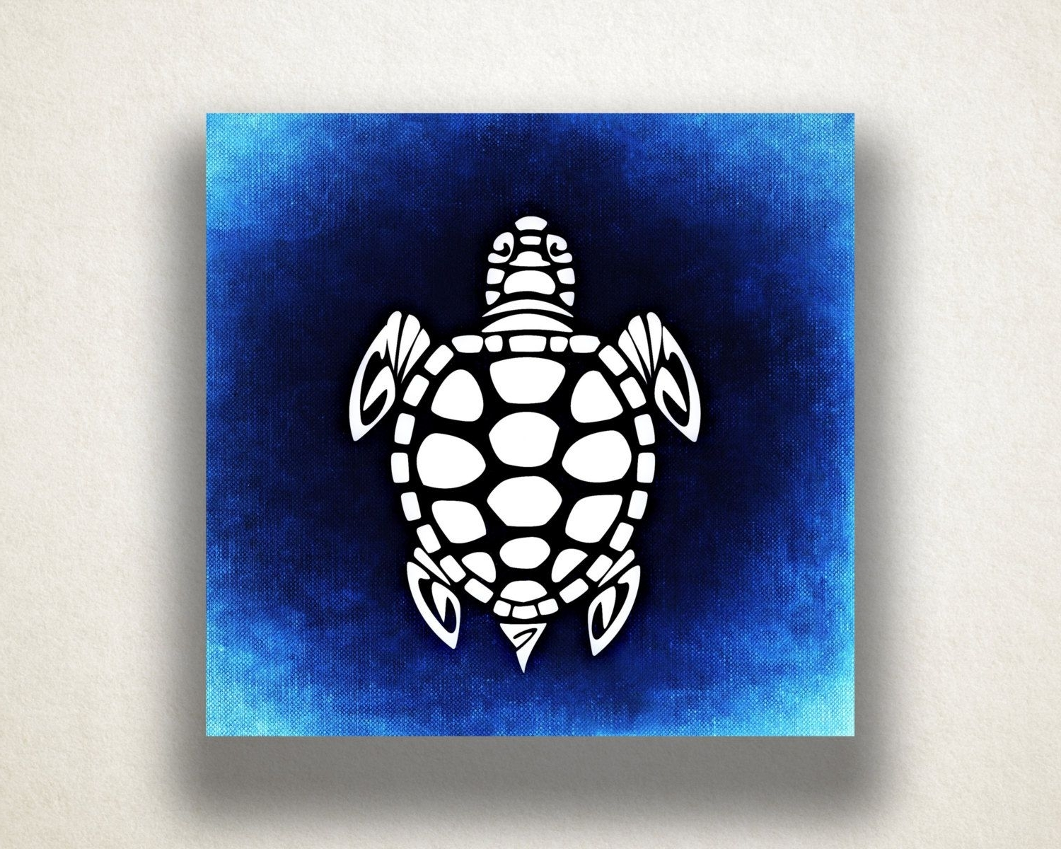 Recent Blue Sea Turtle Canvas Art Print, Oceanlife Wall Art, Animal Canvas Throughout Sea Turtle Canvas Wall Art (View 11 of 20)