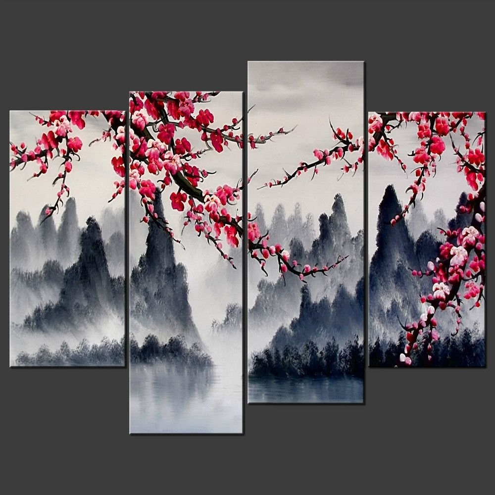 Recent Chinese Wall Art Regarding Chinese Wall Art Painting Simple Chinese Wall Art Combination Multi (View 15 of 20)