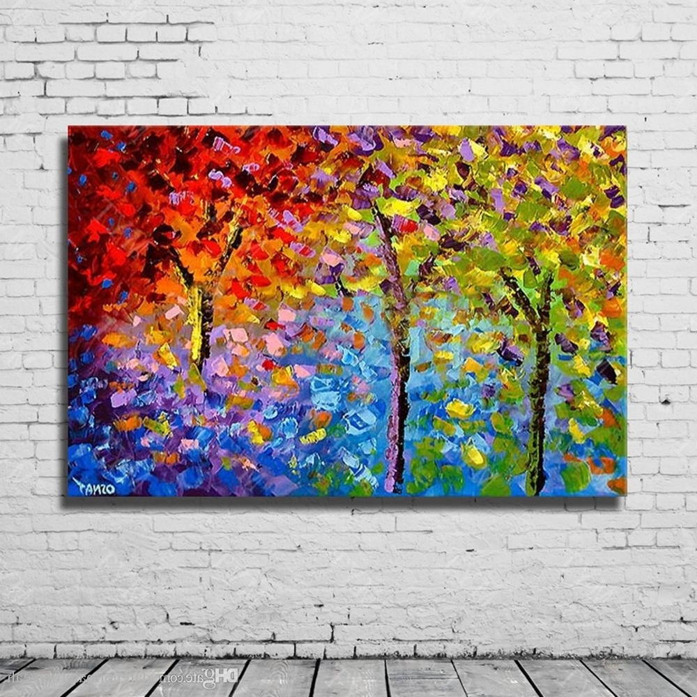 Recent Chinese Wall Art Throughout 2018 Chinese Abstract Knife Landscape Wall Art Oil Painting On (View 16 of 20)
