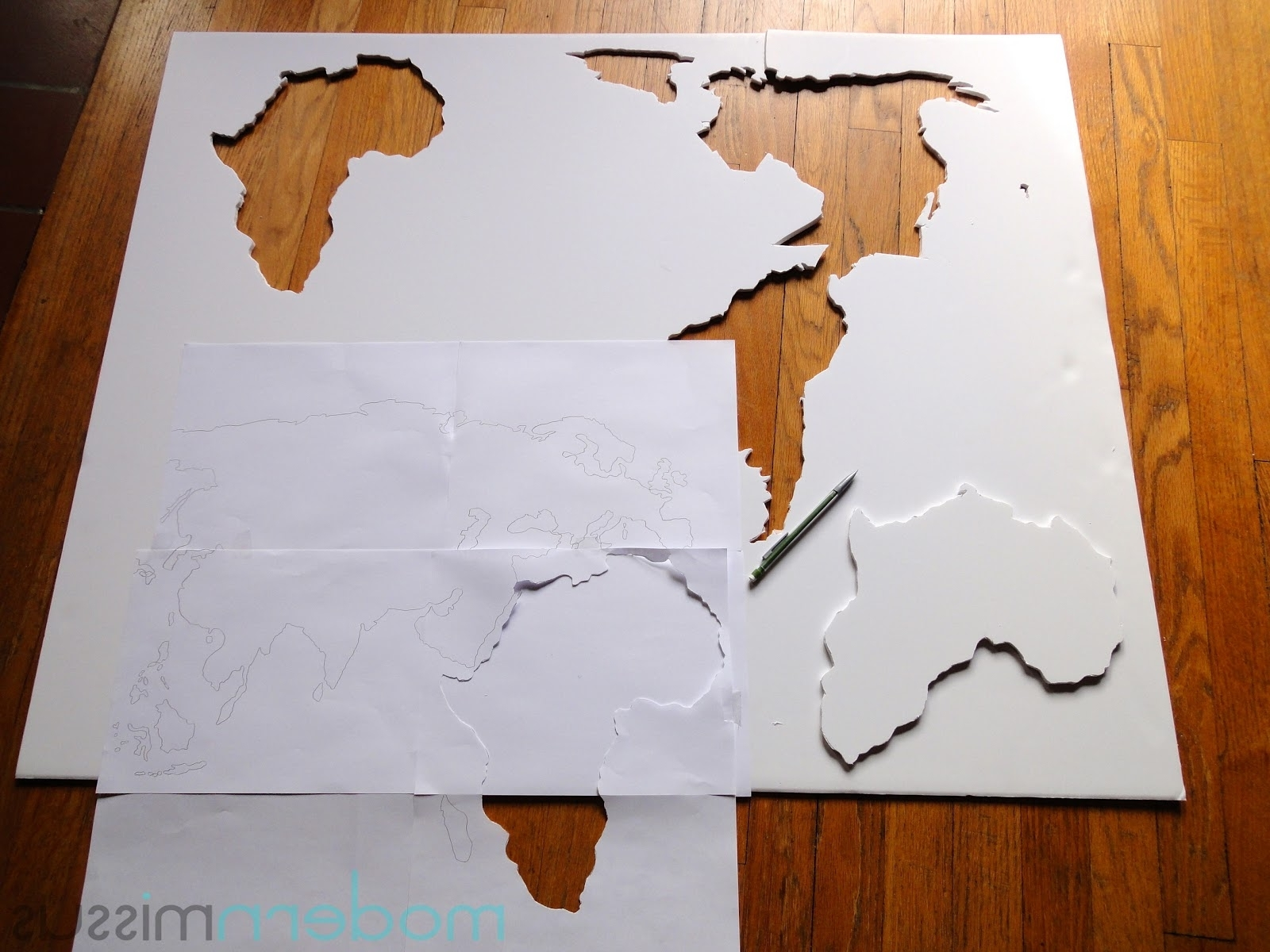 Recent Diy World Map Wall Art Intended For Modern Missus: Diy World Map Wall Art (View 15 of 20)
