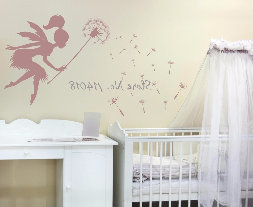 Recent Fairy Blowing Dandelions Wall Decal Dandelion Seeds Wall Art Kids Inside Dandelion Wall Art (View 14 of 20)