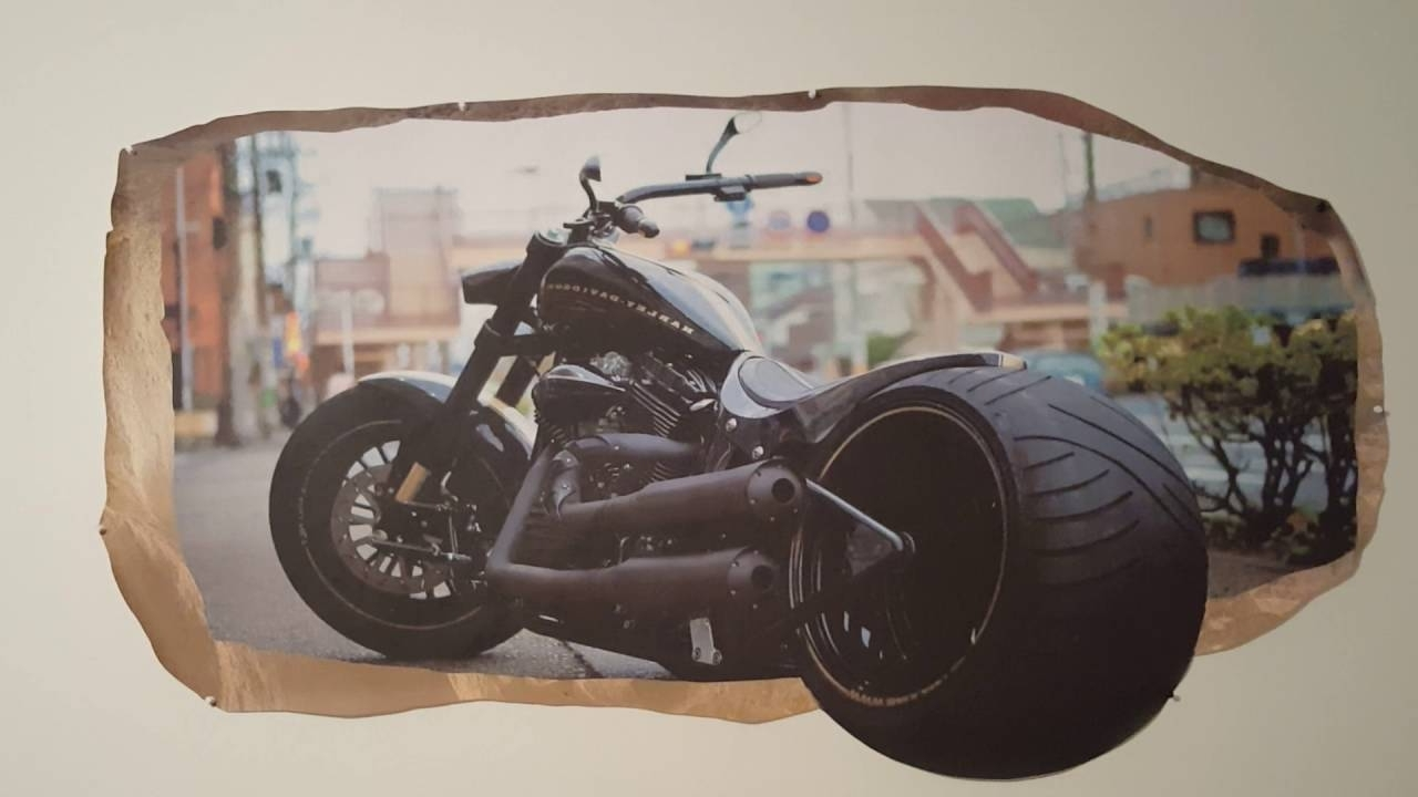 Recent Harley Davidson Wall Art Pertaining To Harley Davidson 3D Mural Wall Artstartonight – Youtube (Gallery 19 of 20)