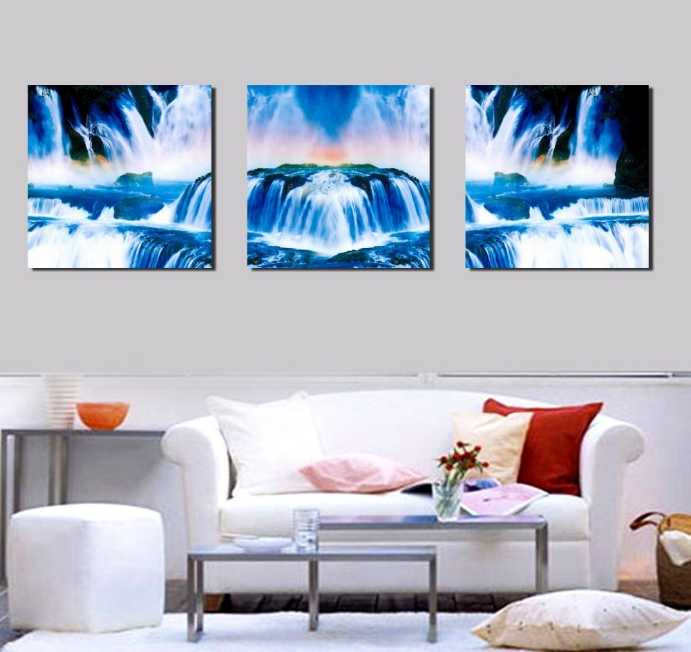 Recent Home Goods Wall Art Inside Home Goods Wall Art Canvas Chinese Waterfall Landscape Paintings For (View 18 of 20)