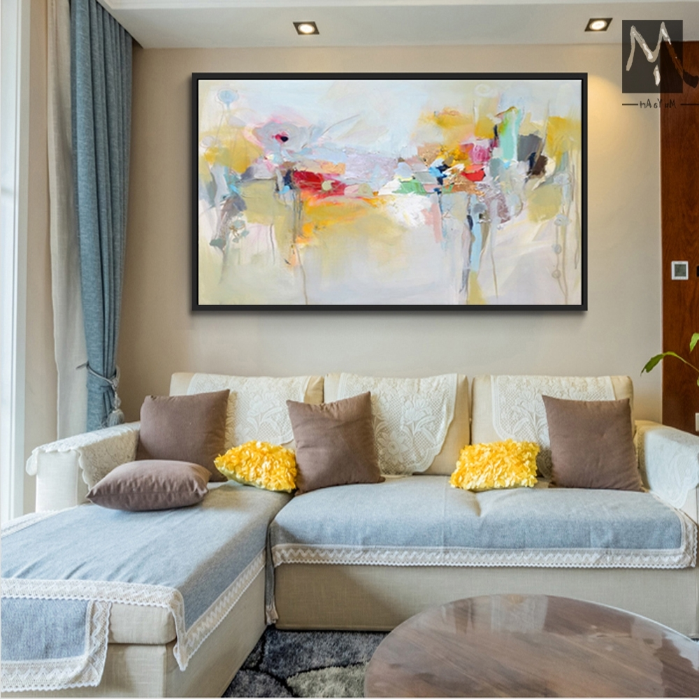 Recent Large Canvas Wall Art Acrylic Painting Modern Paintings Wall With Regard To Modern Large Canvas Wall Art (View 17 of 20)