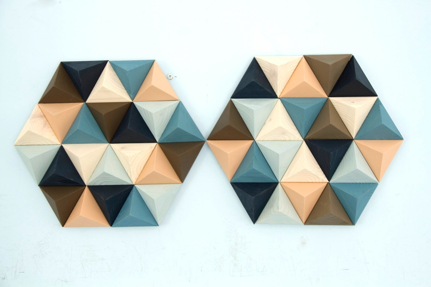 Recent Mid Century Wall Art For Wood Wall Art Geometric, Hexagon, Set Of 2, Mid Century Wall Art (Gallery 18 of 20)