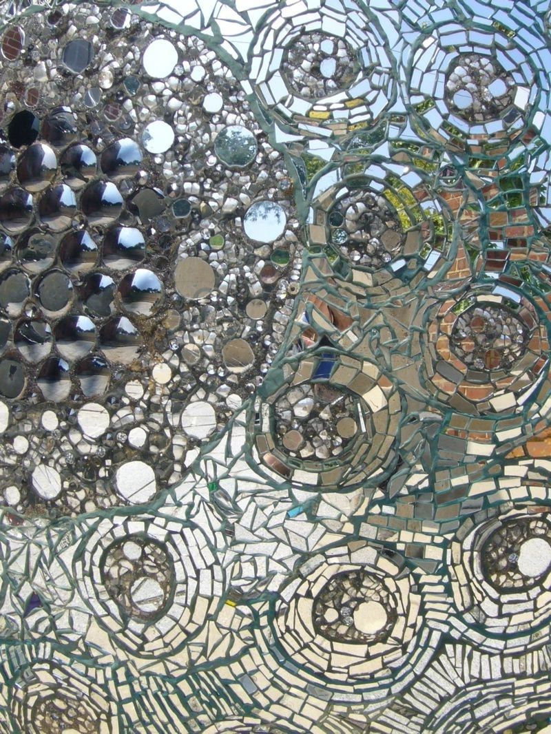 Recent Mirror Mosaic Wall Art Inside Close Up Of A Mosaic Glass Wall (View 19 of 20)