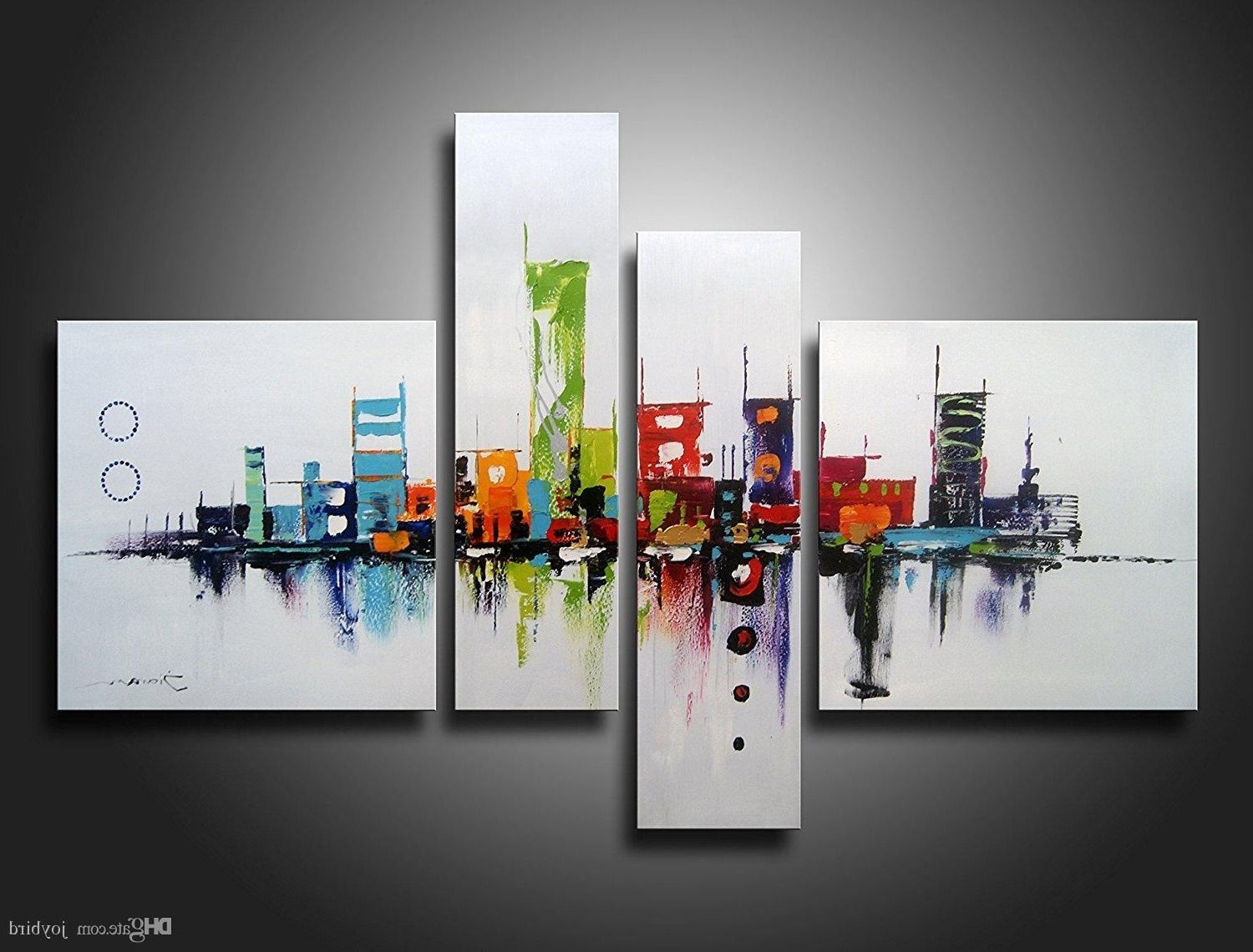 Recent Modern Wall Art Decors Regarding Acheter Modern Artwok Wall Art Decor Résumé Peinture À L'huile (View 18 of 20)