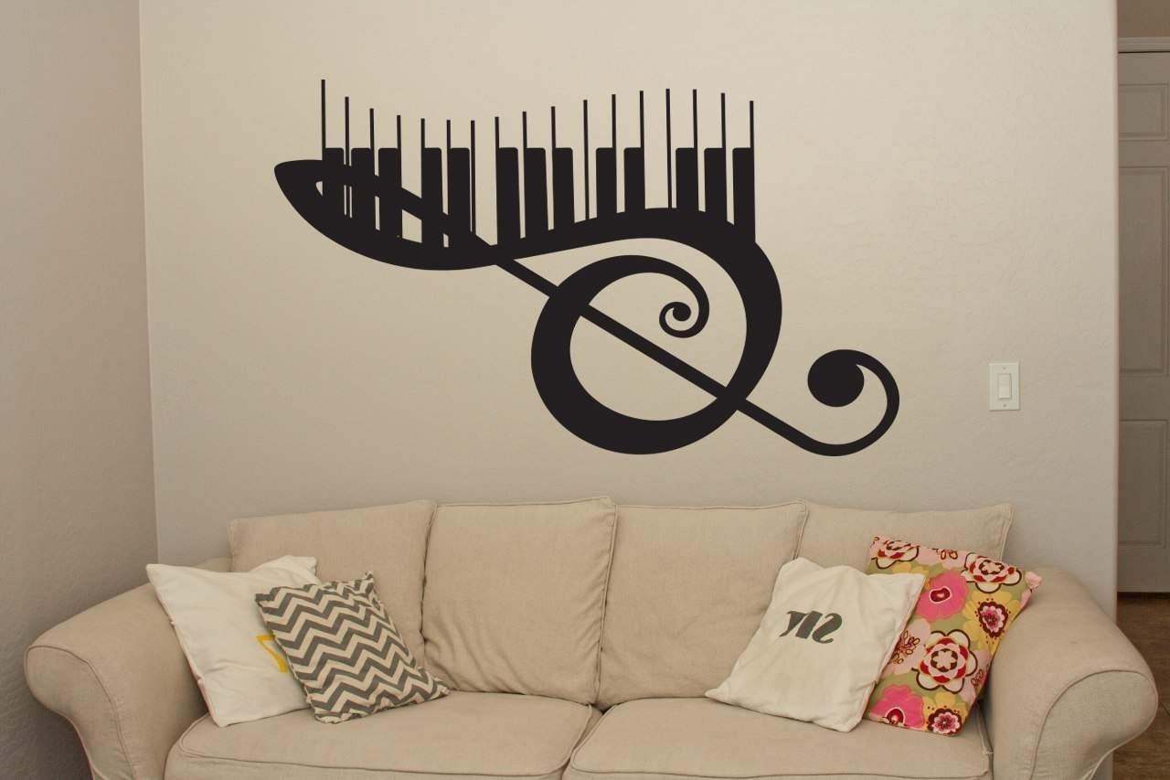 Recent Music Wall Art Throughout Musical Keyboard Wall Art Decal (View 12 of 15)