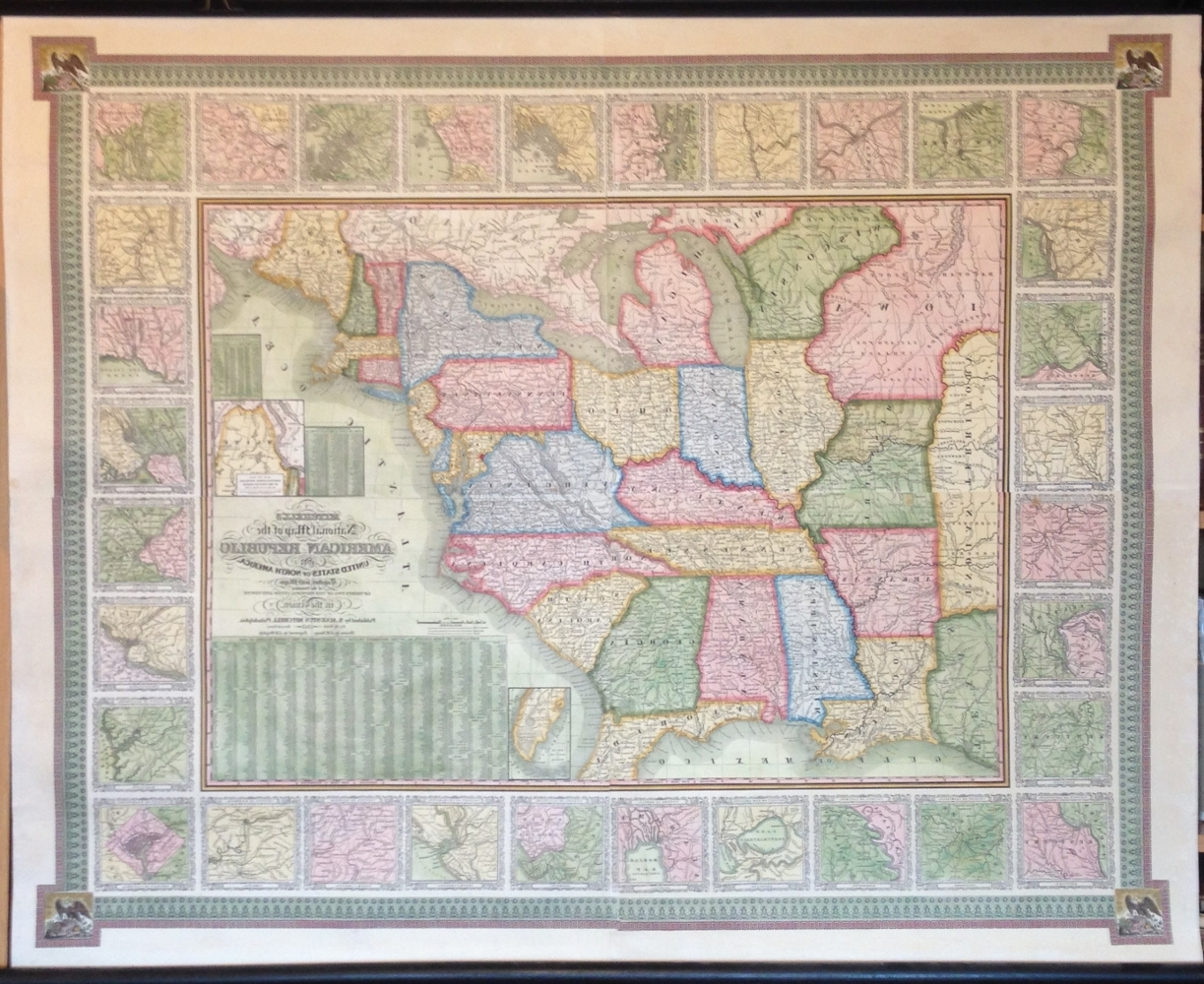 Recent Philadelphia Map Wall Art Within Antique Wall Maps (View 18 of 20)