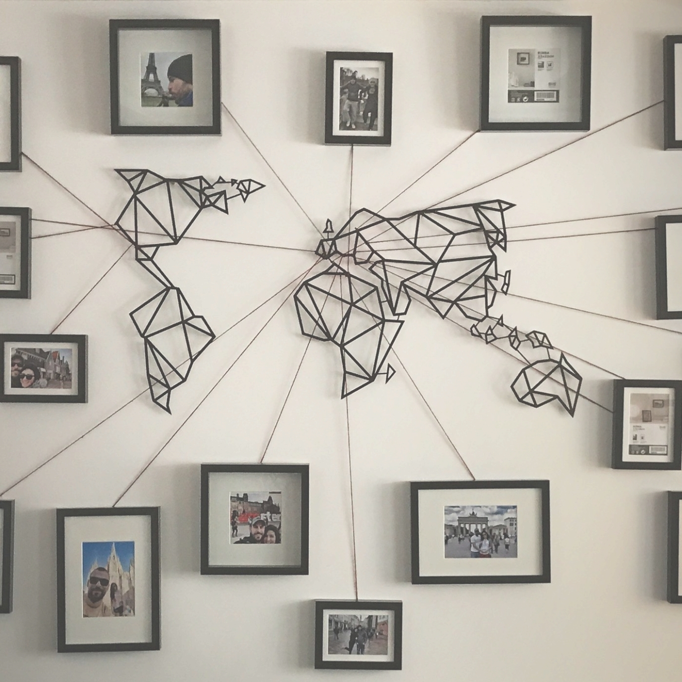 Recent Photo Gallery Of Wall Art Map World Viewing 11 45 Photos For Pertaining To Maps Wall Art (View 16 of 20)