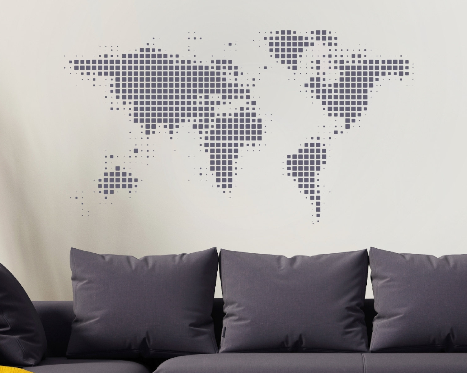 Recent Wall Art Stickers World Map Inside World Map Wall Sticker – World Wall Sticker – World Map – World (View 3 of 20)