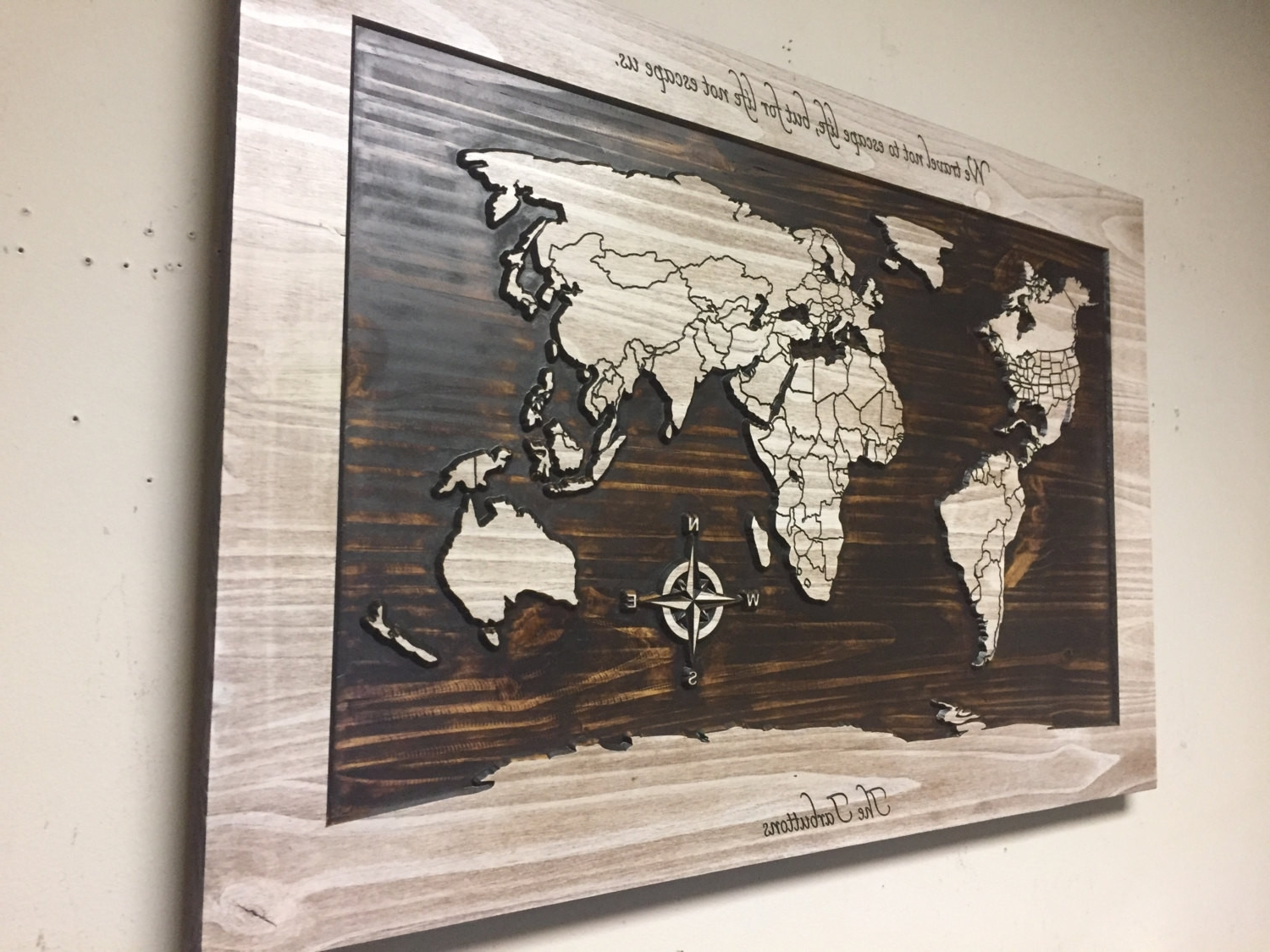 Recent Wall Art World Map With Map Of The World Wall Decor Beautiful Wood Wall Art World Map Wall (View 15 of 20)