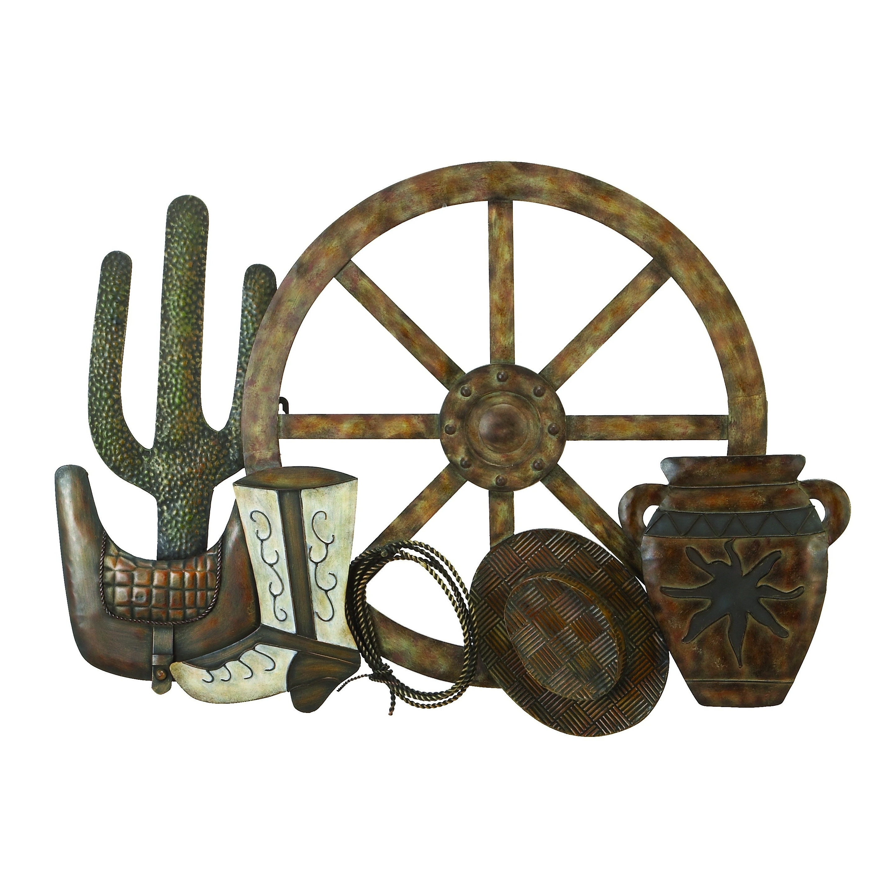 Recent Western Wall Art In Shop Pine Canopy Hyssop Country Western Metal Wall Art – On Sale (View 7 of 20)