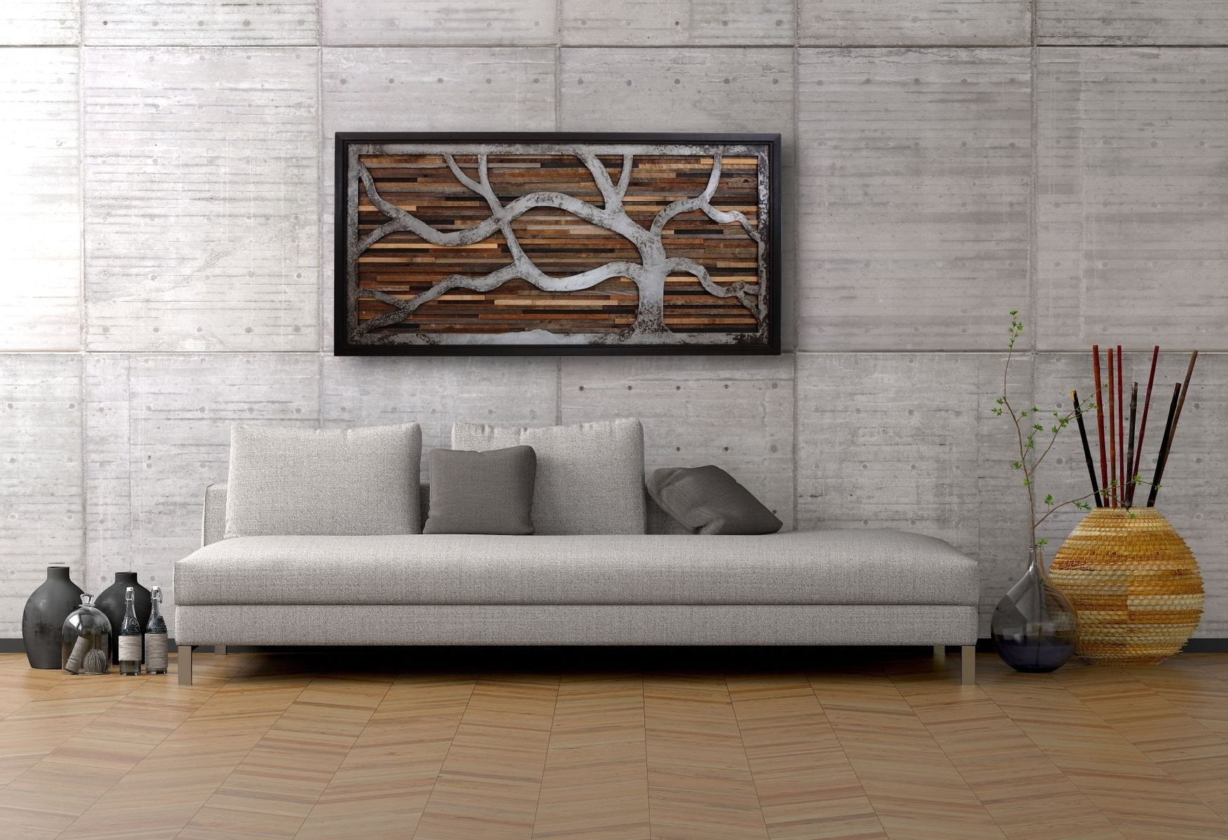 Reclaimed Wood Wall Art Intended For Fashionable Handmade Reclaimed Wood Wall Art Made Of Old Barnwood And Rustic (Gallery 2 of 15)